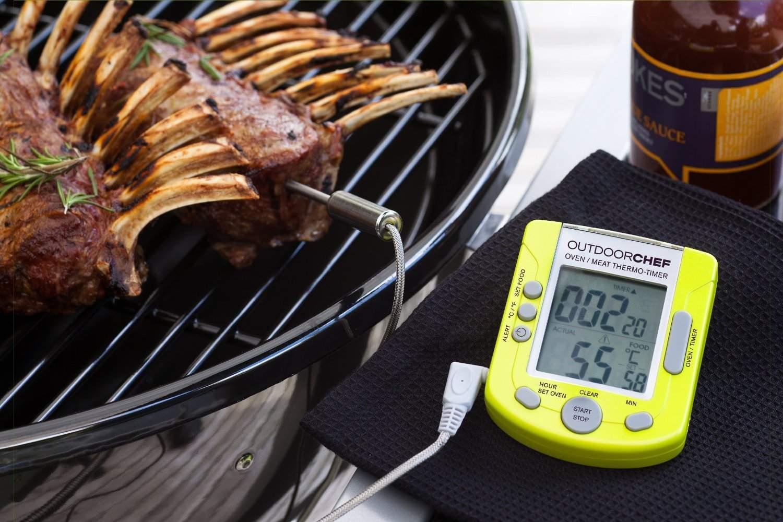 Termometro Barbecue Istantaneo Doppia Sonda Wifi O Bluetooth Si trova sul retro, ed è piccolo e brigoso da spostare. termometro barbecue istantaneo doppia