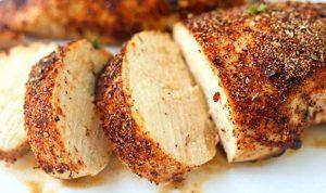 Petto di pollo al barbecue - affettato
