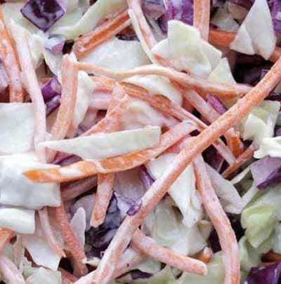 coleslaw cremosa con maionese e yogurt