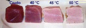 grado di cottura del tonno