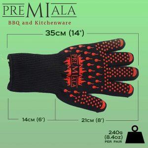 Lunghezza guanti da barbecue Premiala