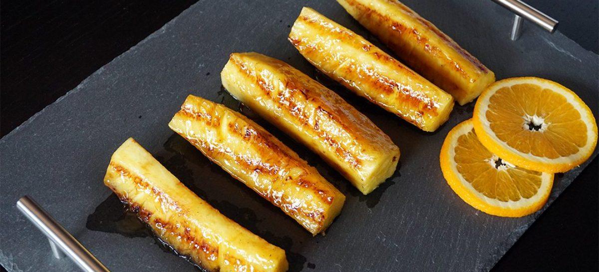 Ananas alla griglia con glassa all'arancia