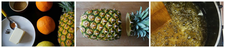 eparazione ananas glassato