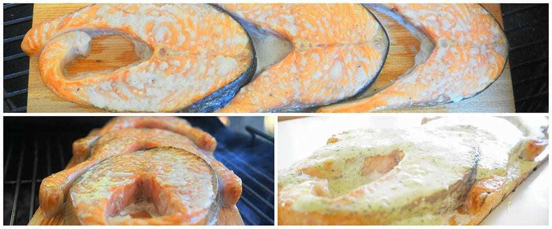 salmone su tavoletta di cedro