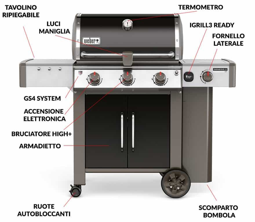 recensione weber genesis ii il nuovo bbq a gas di weber. Black Bedroom Furniture Sets. Home Design Ideas