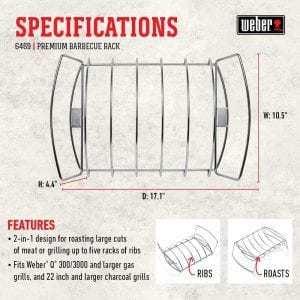 specifiche rib rack weber