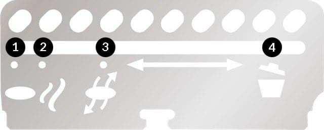 Posizioni valvola ingresso aria Master Touch e 5770