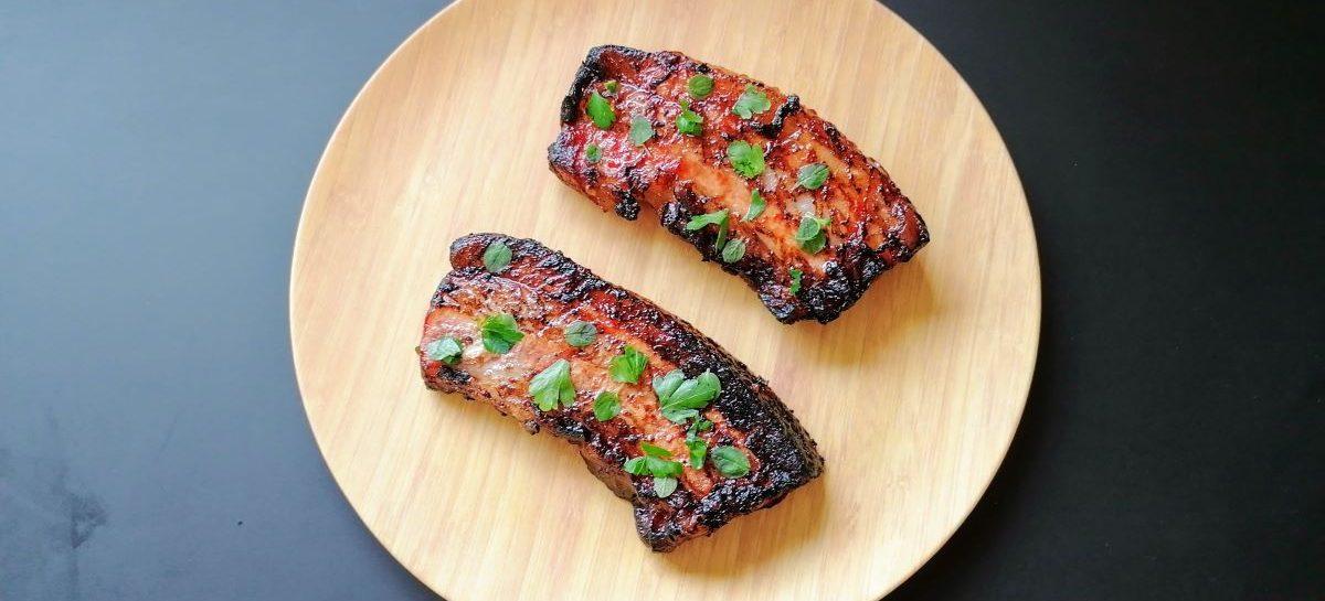 Pancetta di maiale al barbecue