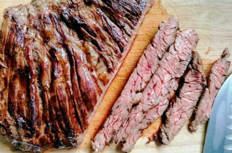 Diaframma di manzo alla griglia – Skirt Steak