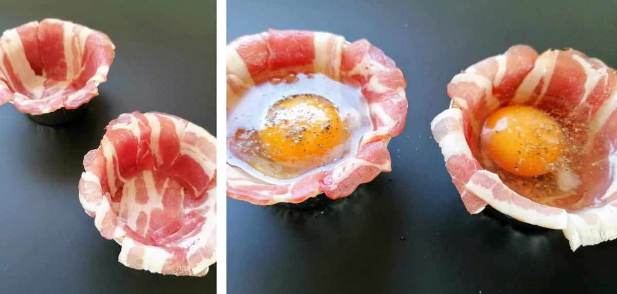 Come preparare i Cestini uova e bacon
