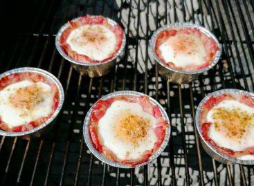 Cestini uova e bacon al barbecue: colazione o antipasto di Pasqua?