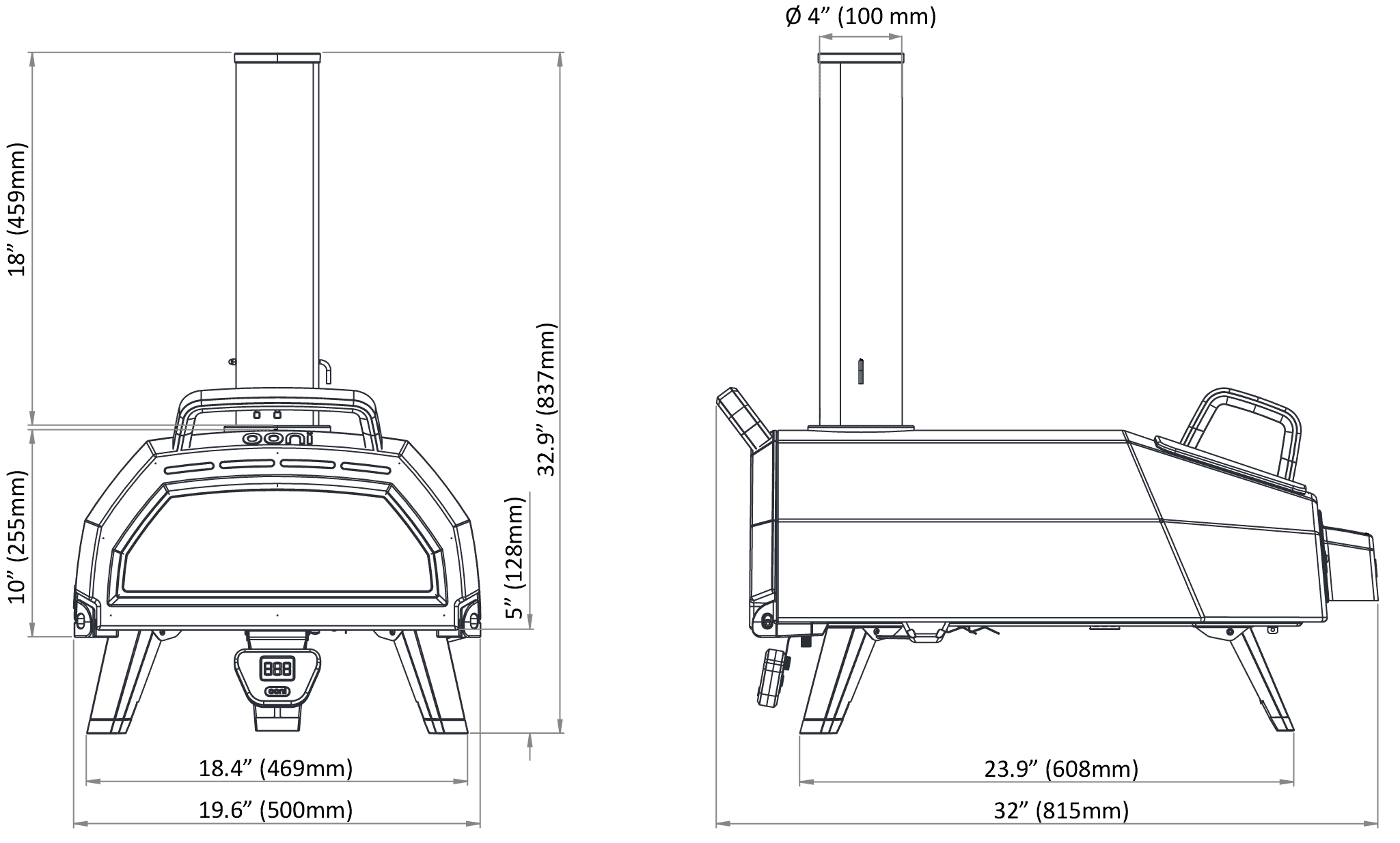 Dimensioni Ooni Karu 16